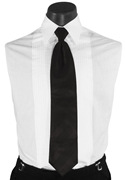 Black Stripe 'Infinity' Long Tie