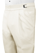 Ivory Double Pleated Pant