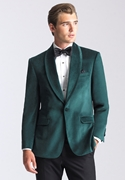 Emerald Green 'Venice' Velvet  Dinner Jacket