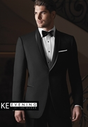 Black 'Waverly' Tuxedo Coat