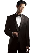 NEW After Six Black 'Chaplin I' 1 Button Notch Tuxedo Coat