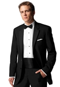 NEW After Six Black 'Chaplin II' 2 Button Notch Tuxedo Coat