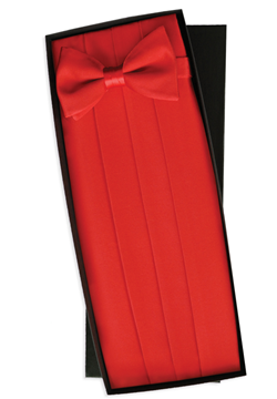 Gorgio Bissoni Red Bow Tie and Cummerbund