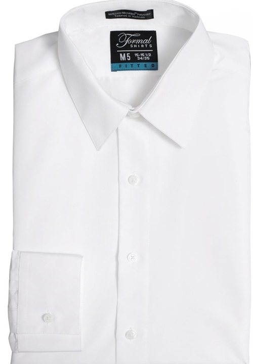 Formal Shirts Vince Fitted White Turn Down Collar Shirt