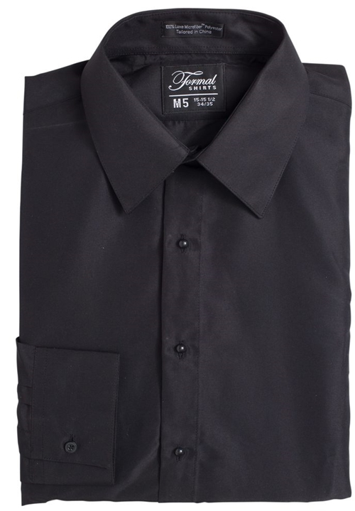 Classic Collection Black Turn Down Collar Shirt