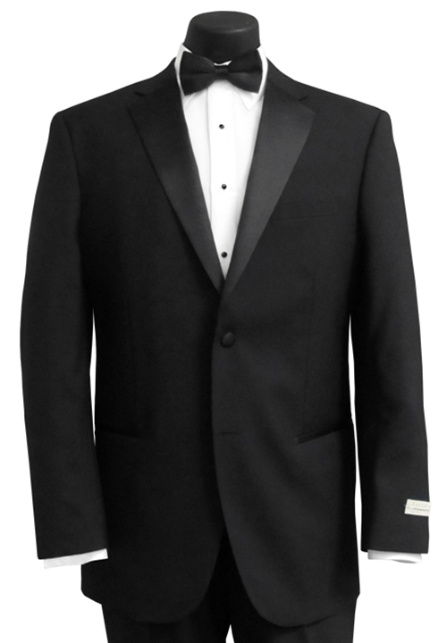 Ferretti Black 'Super 100' Tuxedo Coat and Pant Set