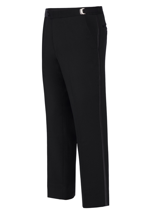 NEW Ike Behar Black Slim Fit Super 120's Tuxedo Trousers