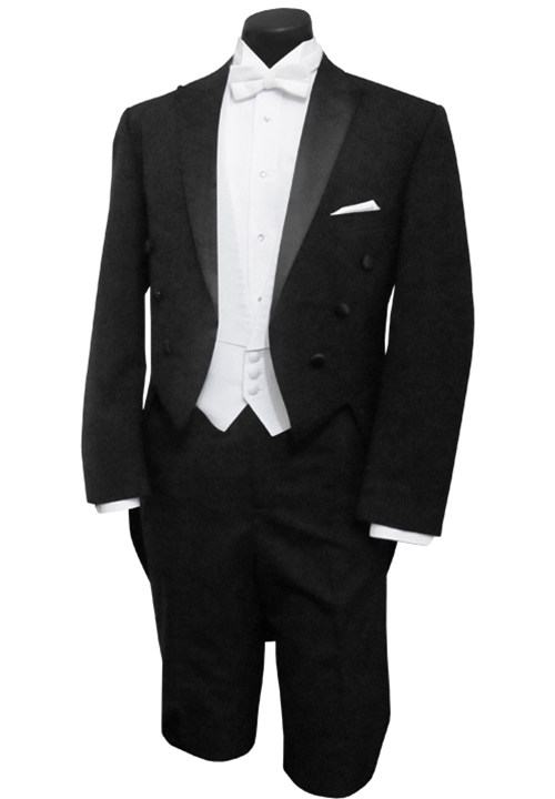 Classic Collection Black 'Milan' 6 Button Peak Tailcoat