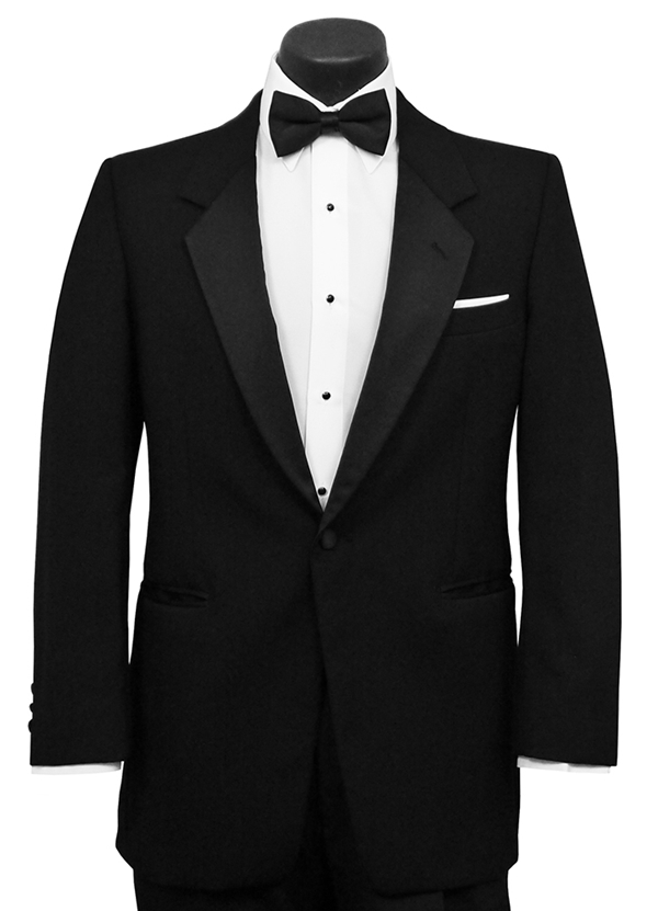 Black 'Lorre' Tuxedo Coat by Classic Collections