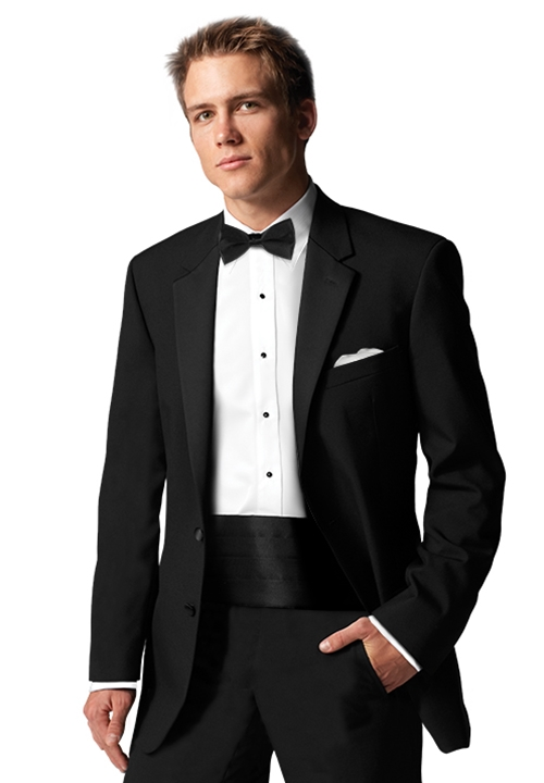 After Six Black 'Chaplin II' Tuxedo Coat
