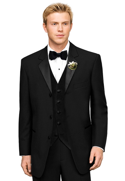 After Six Black 'Chaplin III' Tuxedo Coat