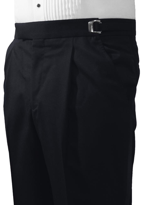 Midnight Blue Single Pleat Formal Trouser