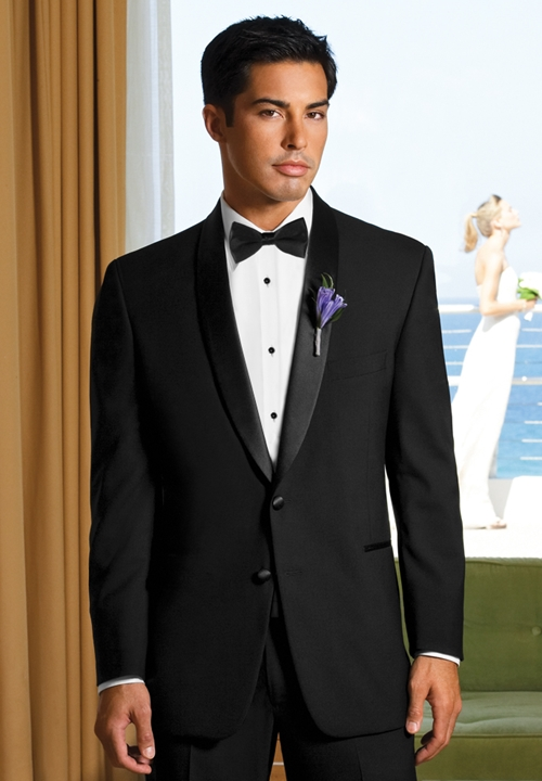 After Six Black 'Cyprus' Tuxedo Coat
