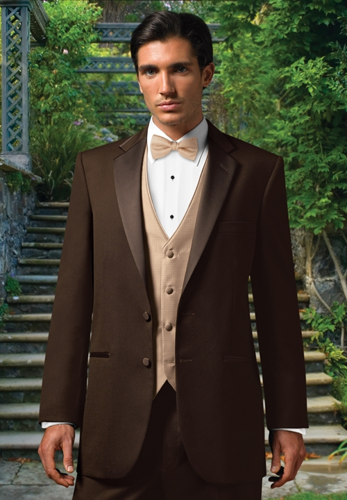 Jean Yves Chocolate 'Premier' Tuxedo Coat As far as the styling of the tuxedo is concerned, it's very traditional.