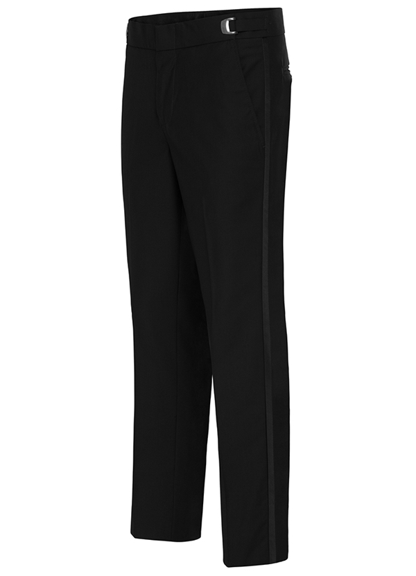 NEW Black Slim Polyester Tuxedo Pants