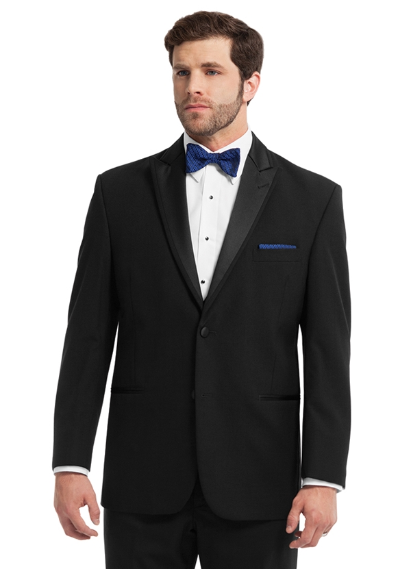 The Black 'Fairmont' Tuxedo Coat by Chaps Ralph Lauren