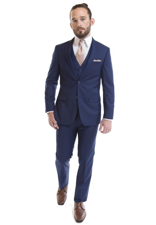David Major French Blue Suit Coat