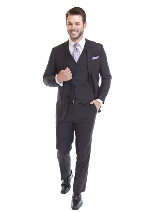 NEW Medium Grey Suit Coat by David Major
