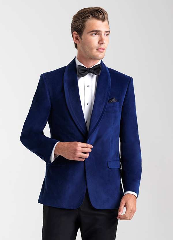 Sapphire Blue 'Venice' Velvet  Dinner Jacket by Allure Men