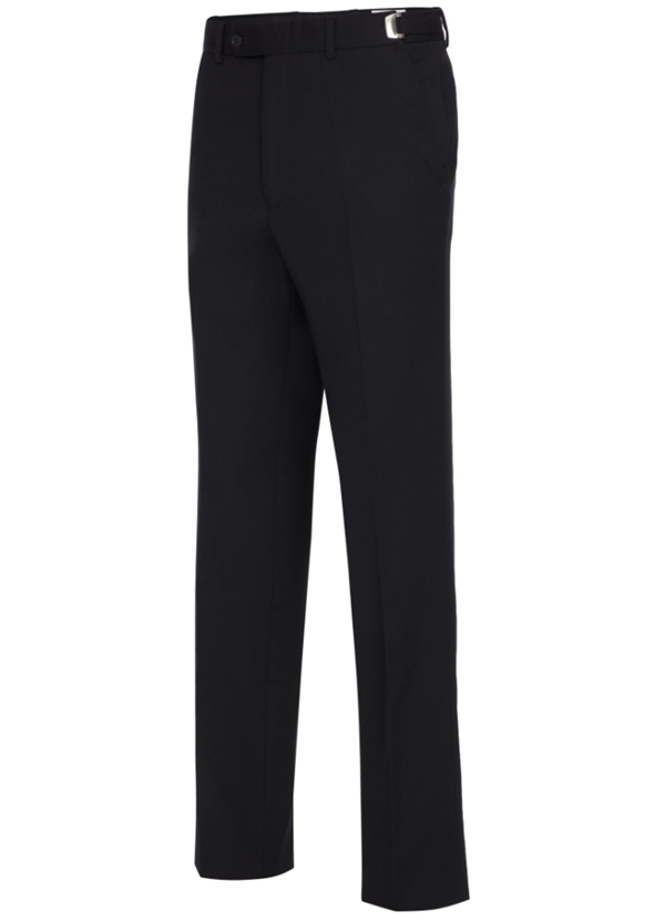 Black Slim S120's Wool Suit Pants