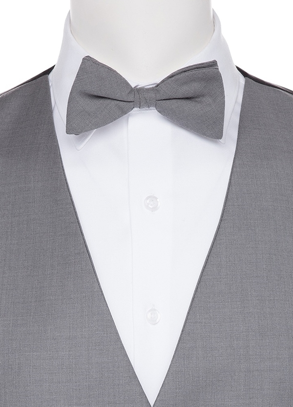 Grey Self Bow tie