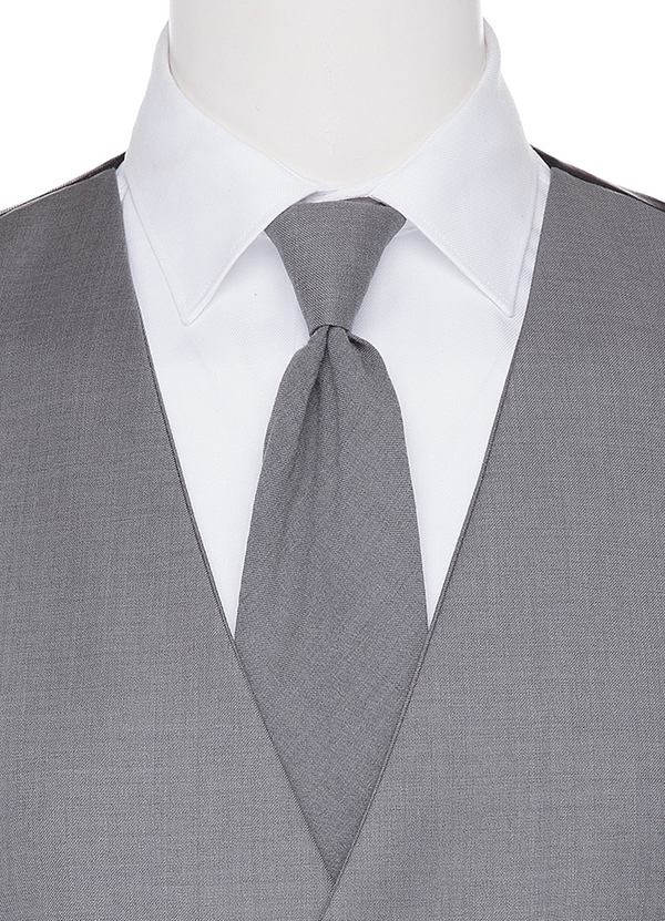 Grey Self Long tie