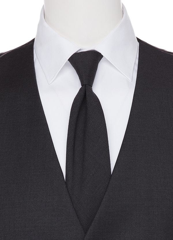 Charcoal Grey Long TIe