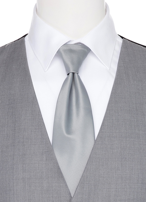Heather Grey Long TIe
