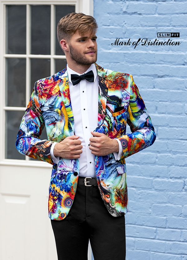 "Muticolor Stretch ""Hendrix"" Tuxedo Coat"