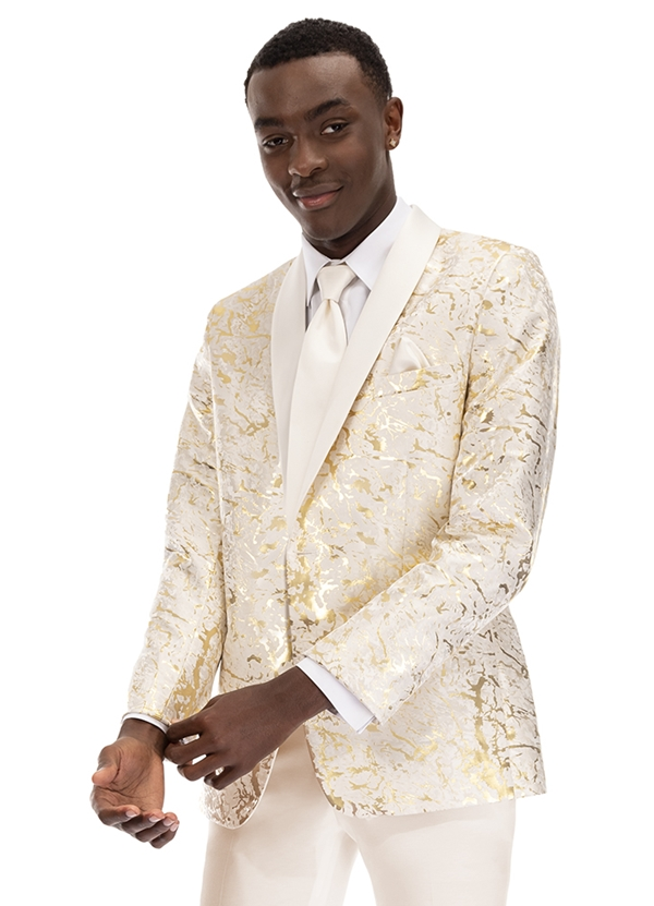 Gold & Ivory 'Camo' Tuxedo Coat by Mark of Distinction