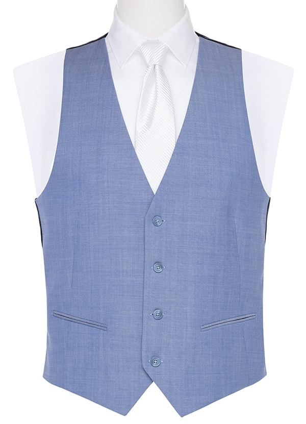 Caribbean Blue Poly Wool Vest