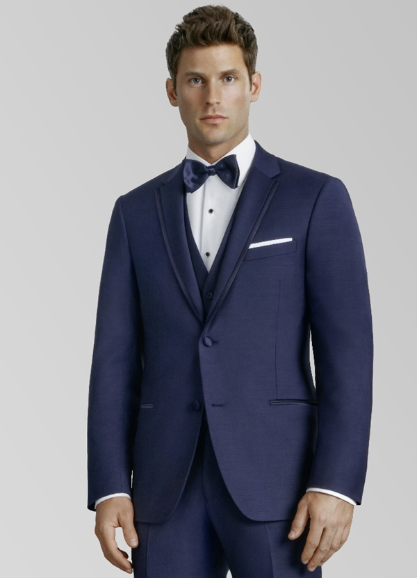 Kenneth Cole Navy 'Thompson' Tuxedo Coat