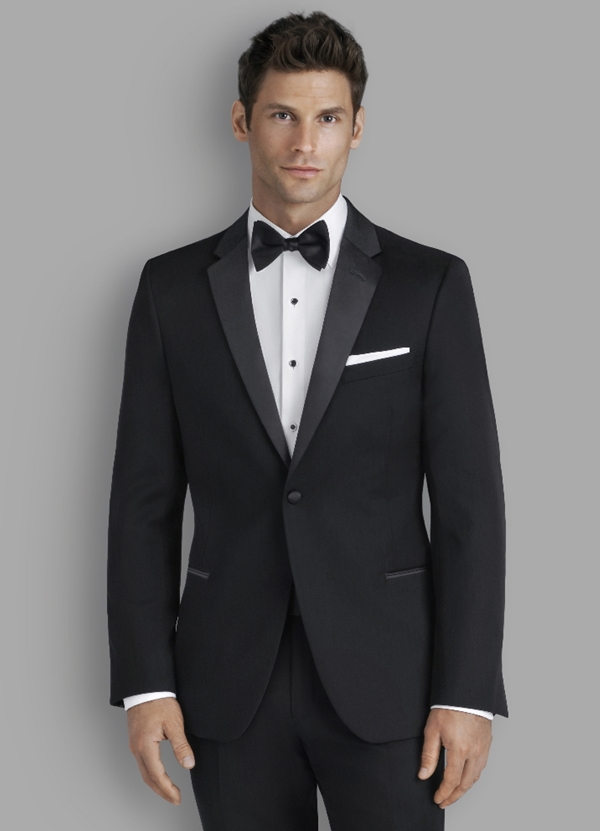Kenneth Cole Black Stretch 'Parkville' Tuxedo Coat