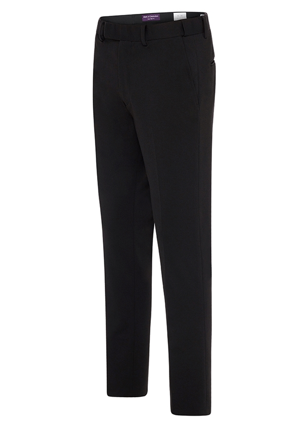 Black Euro-Slim Stretch Pants by Mark of Distinction