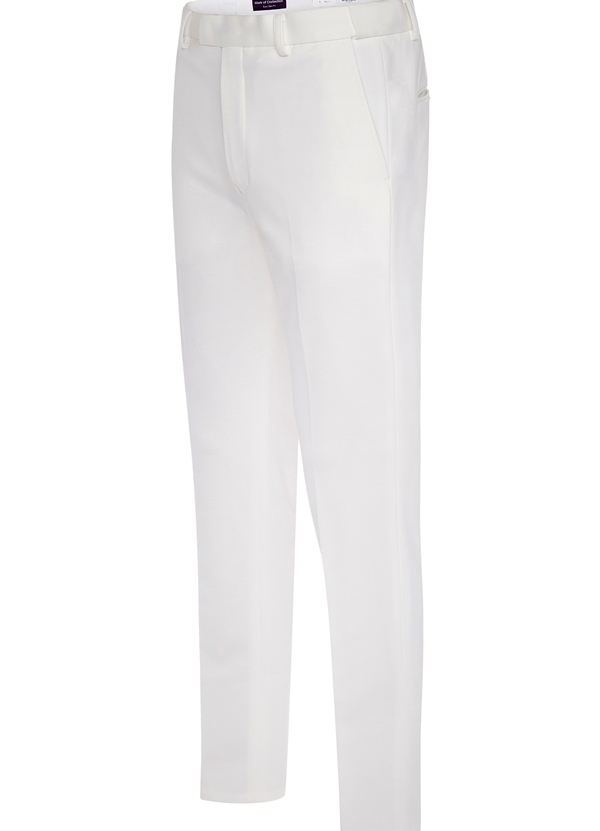 Ivory Euro-Slim Stretch Pants by Mark of Distinction