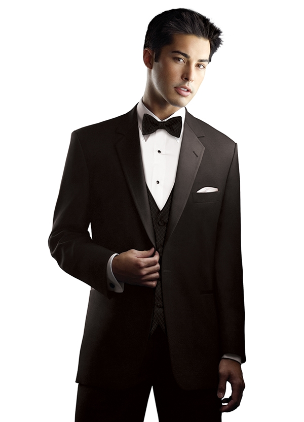 Chaplin Black 1 Button Notch Tuxedo