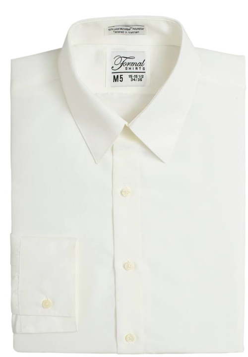 Classic Collection Ivory  Turn Down Collar Shirt