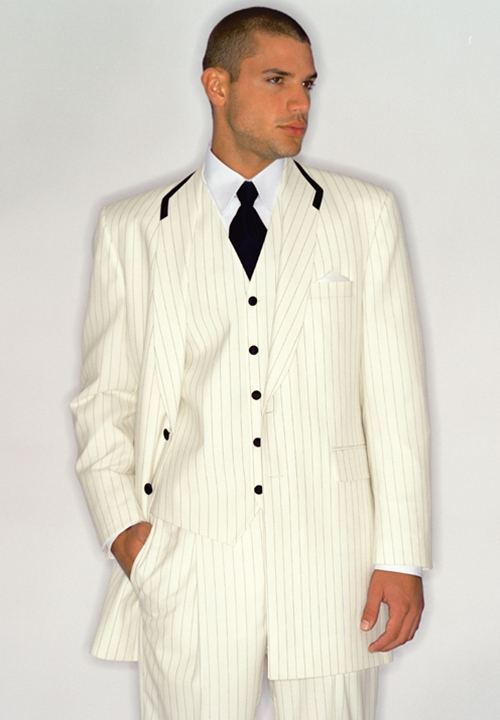 After Six Ivory with Black Stripe Trouser
