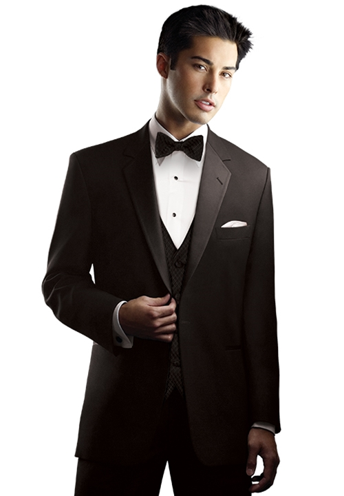 After Six Chaplin Black 1 Button Notch Tuxedo Coat